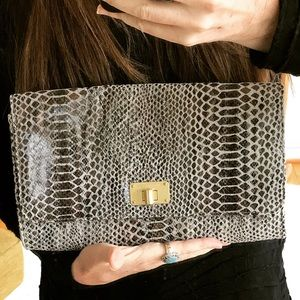 Elliott Lucca leather clutch